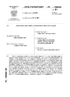 Sposób wytwarzania powłok wielowarstwowych odpornych na zużycie : opis patentowy nr 198494