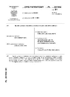 Sposób wytwarzania brykietów z drobnoziarnistych materiałów metalowych : opis patentowy nr 201554
