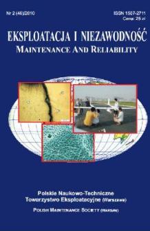 Eksploatacja i Niezawodność = Maintenance and Reliability Nr 2 (46)2010