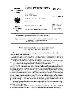 Prezenter próbek do badań jakości materiałów sypkich, zwłaszcza metodami radiometrycznymi : opis patentowy nr 122174