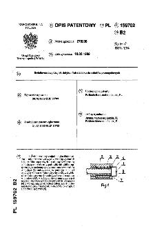 Światłowodowy czujnik dotyku l/lub nacisku do robotów przemysłowych : opis patentowy nr 159702