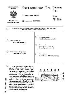 Sposób i urządzenie do wytwarzania cienkich gradientowych okien optycznych dla baterii słonecznych na bazie arsenku galu : opis patentowy nr 170389