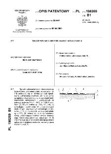 Sposób wykonania baterii słonecznych na bazie krzemu : opis patentowy nr 198269