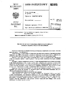 Wzbudnik kolumnowy do wstępnego podgrzewania płyt stalowych zwłaszcza matryc kuziennych i form odlewniczych : opis patentowy nr 103915