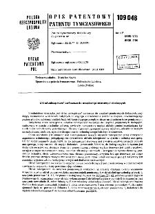 Układ zabezpieczeń zwłaszcza do urządzeń pomiarowych śledzących : opis patentowy patentu tymczasowego nr 109048