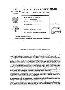Układ hamowania dynamicznego silnika pierścieniowego : opis patentowy patentu tymczasowego nr 110428