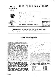 Kąpiel do niklowania z połyskiem : opis patentowy nr 115907