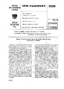 Kąpiel do otrzymywania stopowych powłok galwanicznych zawierających molibden : opis patentowy nr 123134