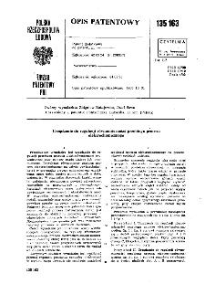 Urządzenie do regulacji równomierności przebiegu procesu elektrochemicznego : opis patentowy nr 135163;