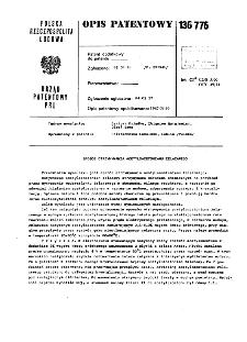 Sposób otrzymywania acetyloacetonianu żelazowego : opis patentowy nr 136776