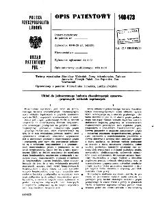 Układ do jednoczesnego badania charakterystyk czasowo-prądowych wkładek topikowyeh : opis patentowy nr 140473