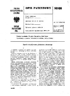 Sposób otrzymywania glukonianu żelazawego : opis patentowy nr 140484