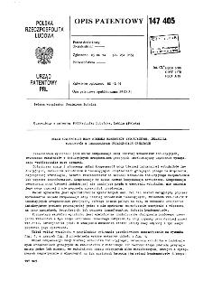 Układ kompensacji mocy biernej wzbudników indukcyjnych, zwłaszcza wzbudników w indukcyjnych urządzeniach grzejnych : opis patentowy nr 147405;