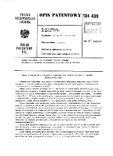 Układ do nastawiania obciążenia prądowego przy zadanym napięciu i zadanym współczynniku mocy : opis patentowy nr 134439