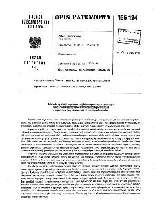 Układ regulacji napięcia wyjściowego magnetycznego mnożnika częstotliwości zwłaszcza potrajacza z wyjściem trójfazowym i dziewięciokrotnika : opis patentowy nr 136124