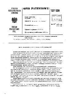 Kąpiel galwaniczna do otrzymywania stopów srebro-miedź : opis patentowy nr 137128
