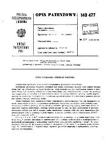 Sposób otrzymywania glukonianu wapniowego : opis patentowy nr 140477