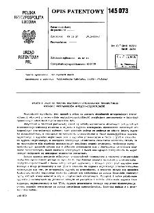 Sposób i układ do pomiaru składowych ortogonalnych transmitancji widmowej przetworników napięcie-częstotliwość : opis patentowy nr 145073