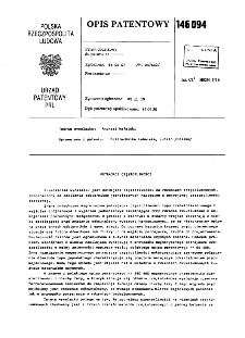 Potrajacz częstotliwości : opis patentowy nr 146094