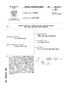 Sposób i układ sterowania elektrycznego silnika prądu stałego zasilanego z generatora fotowoltaicznego : opis patentowy nr 197211