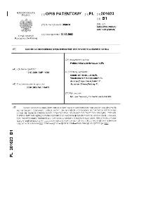 Sposób i układ stabilizacji prądu termoemisji elektronowej w spektrometrze mas : opis patentowy nr 201623