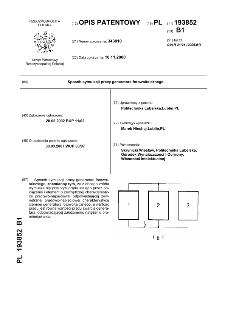 Sposób symulacji pracy generatora fotowoltaicznego : opis patentowy nr 193852