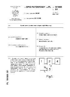 Sposób poszukiwania mocy maksymalnej źródła energii : opis patentowy nr 191885