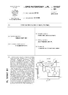 Układ do pomiaru rezystancji zastępczej równoległej : opis patentowy nr 191647