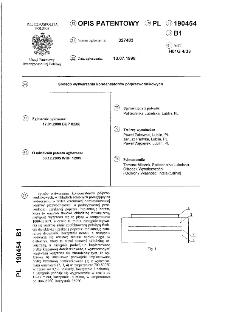 Sposób wytwarzania kondensatorów półprzewodnikowych : opis patentowy nr 190454