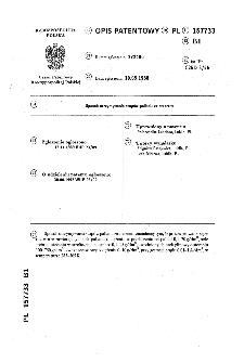 Sposób otrzymywania stopów palladu ze srebrem : opis patentowy nr 157733