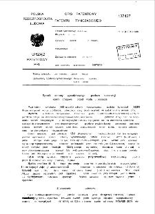 Sposób ochrony wysadzinowego podłoża konstrukcji jezdni drogowej przed wodą z pobocza : opis patentowy patentu tymczasowego nr 137427