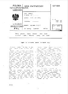 Kąpiel do nanoszenia powłok ze stopów cyny : opis patentowy nr 137901