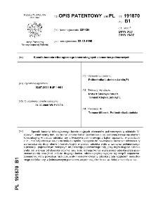 Sposób badania tribologicznego konstrukcyjnych elementów polimerowy : opis patentowy nr 191870