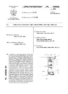 Urządzenie do wykorzystania ciepła z dolnego źródła ciepła obiegu silnikowego : opis patentowy nr 195056