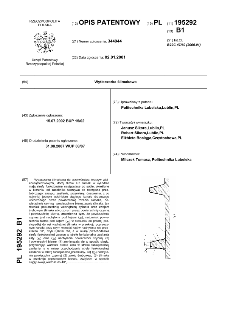 Wytłaczarka ślimakowa : opis patentowy nr 195292