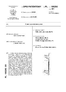 Ślimak do przetwórstwa tworzyw : opis patentowy nr 195293