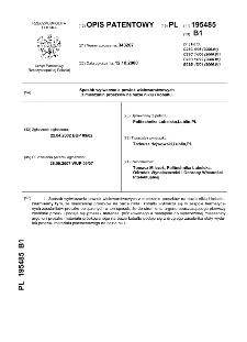 Sposób wytwarzania powłok wielowarstwowych z mieszanin proszków na bazie niklu i kobaltu : opis patentowy nr 195485
