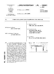Urządzenie do wytwarzania powłok z gradientem składu chemicznego : opis patentowy nr 195951