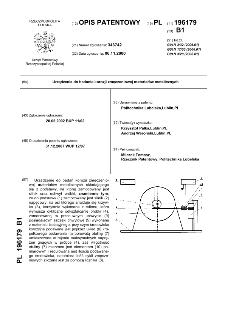 Urządzenie do badania korozji zmęczeniowej materiałów metalicznych : opis patentowy nr 196179