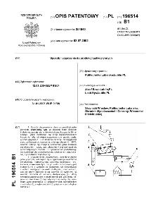 Sposób i urządzenie do produkcji paliw płynnych : opis patentowy nr 196514