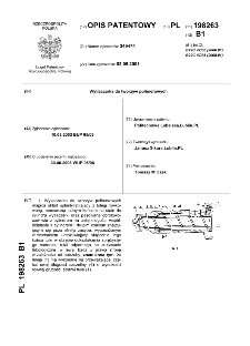 Wytłaczarka do tworzyw polimerowych : opis patentowy nr 198263
