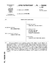Środek do likwidacji oblodzeń : opis patentowy nr 198266