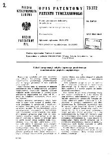 Układ kompensacji uchybu kątowego powietrznego transformatora prądowo-napięciowego : opis patentowy patentu tymczasowego nr 73372