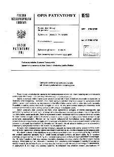 Sprzęgło elektromagnetyczne zębate lub kłowe synchronicznie zesprzęglane : opis patentowy nr 85153