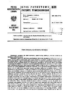 Silnik elektryczny asynchroniczny indukcyjny : opis patentowy patentu tymczasowego nr 86301