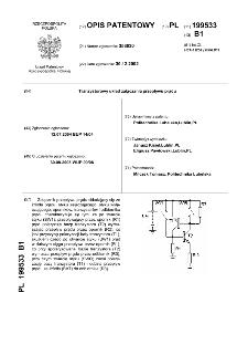 Tranzystorowy układ załączania przepływu prądu : opis patentowy nr 199533