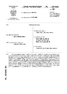 Tworzywo chlorowe : opis patentowy nr 201555