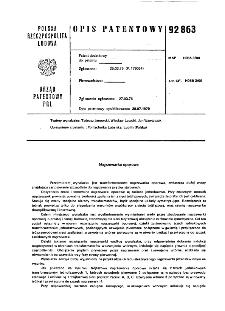 Nagrzewarka oporowa : opis patentowy nr 92863