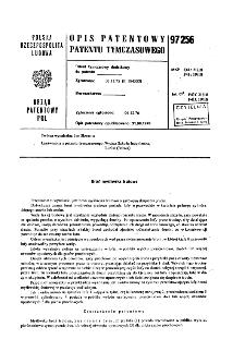 Broń myśliwska śrutowa : opis patentowy patentu tymczasowego nr 97256