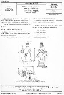 Silniki o zapłonie samoczynnym - Pompy wtryskowe do obcego napędu - Główne wymiary BN-80/1301-06